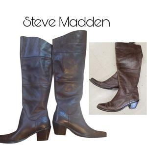 """Steven Madden """"Scatter"""" tall cowboy boots Sz 9.5"""